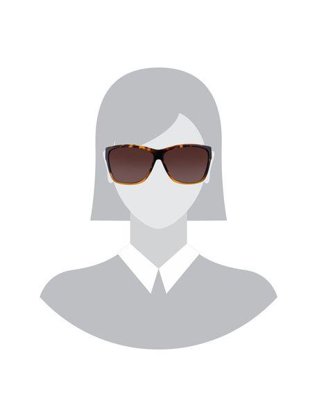 عینک آفتابی مربعی زنانه - قهوه اي  - 5