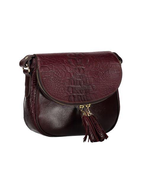 کیف دوشی چرم روزمره زنانه - زرشکي - 4
