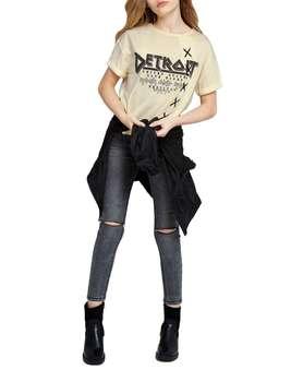 تی شرت یقه گرد دخترانه