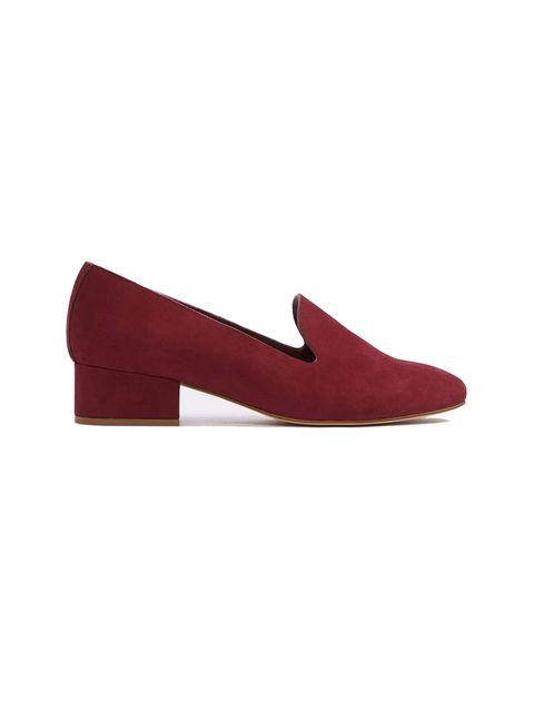 کفش پاشنه بلند نبوک زنانه - زرشکي - 1