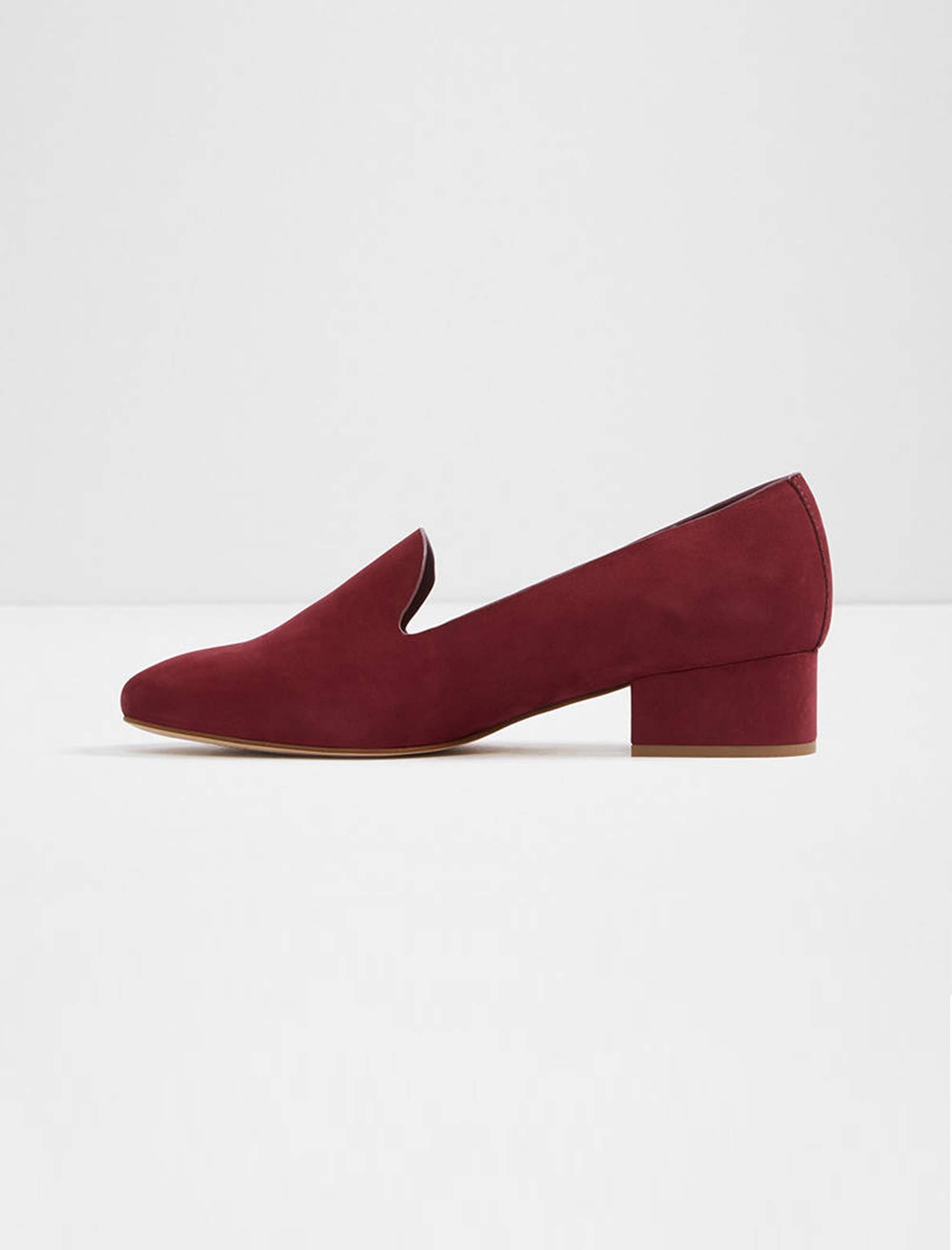 کفش پاشنه بلند نبوک زنانه - زرشکي - 2