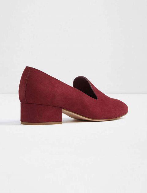 کفش پاشنه بلند نبوک زنانه - زرشکي - 3