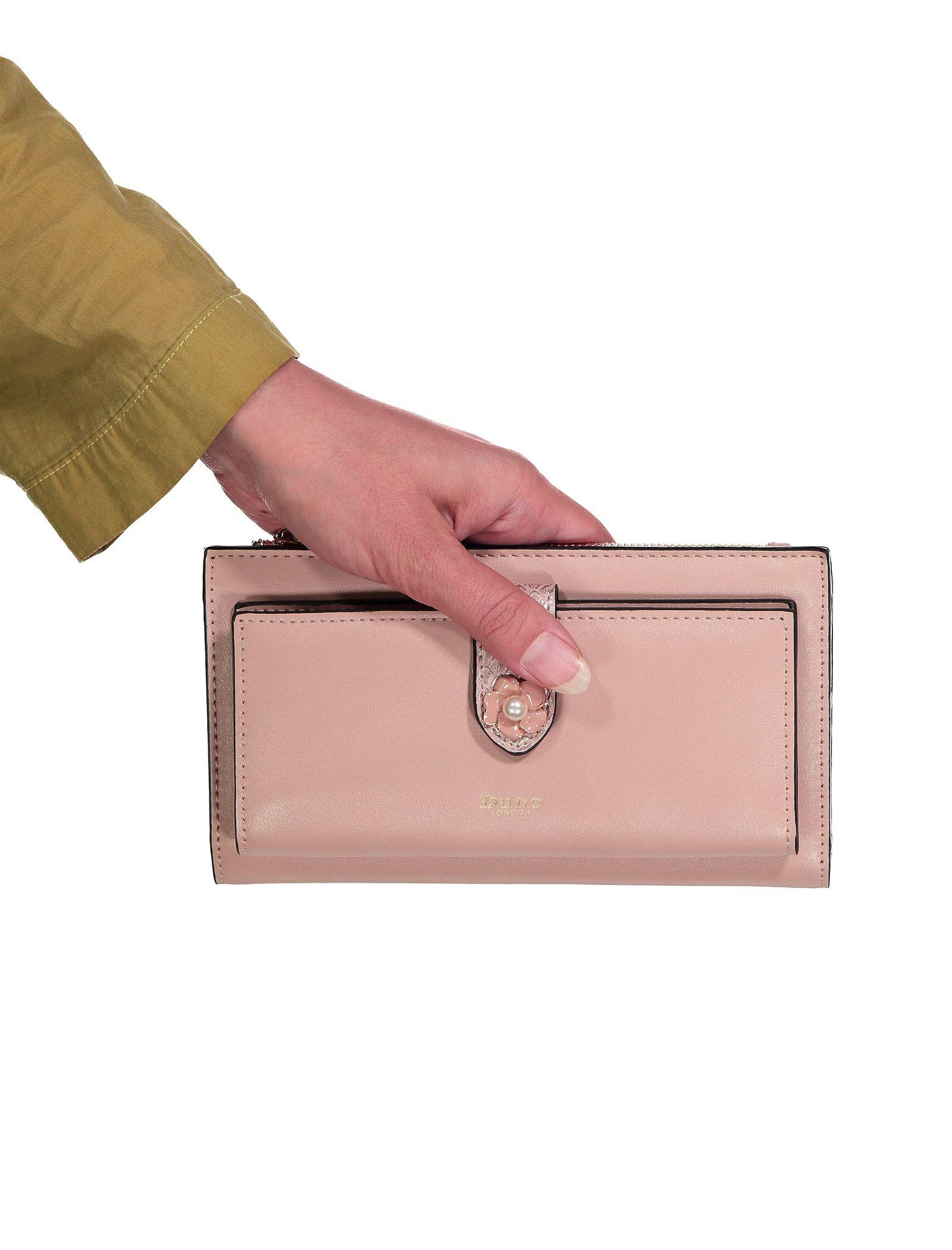 کیف پول کتابی زنانه - دون لندن - صورتي - 7