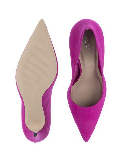 کفش پاشنه بلند چرم زنانه - آلدو - بنفش - 2