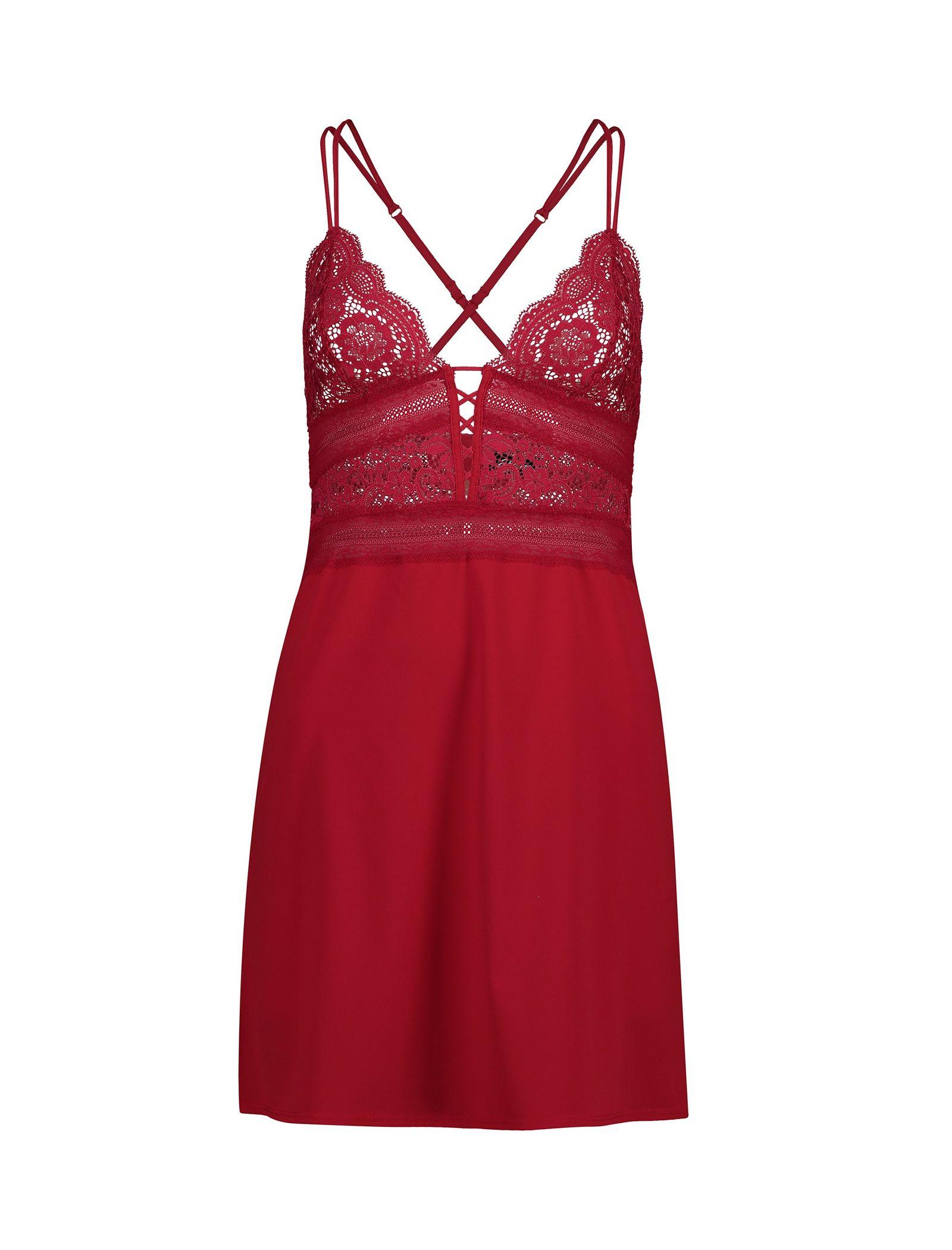لباس خواب یک تکه زنانه - اتام - قرمز - 1