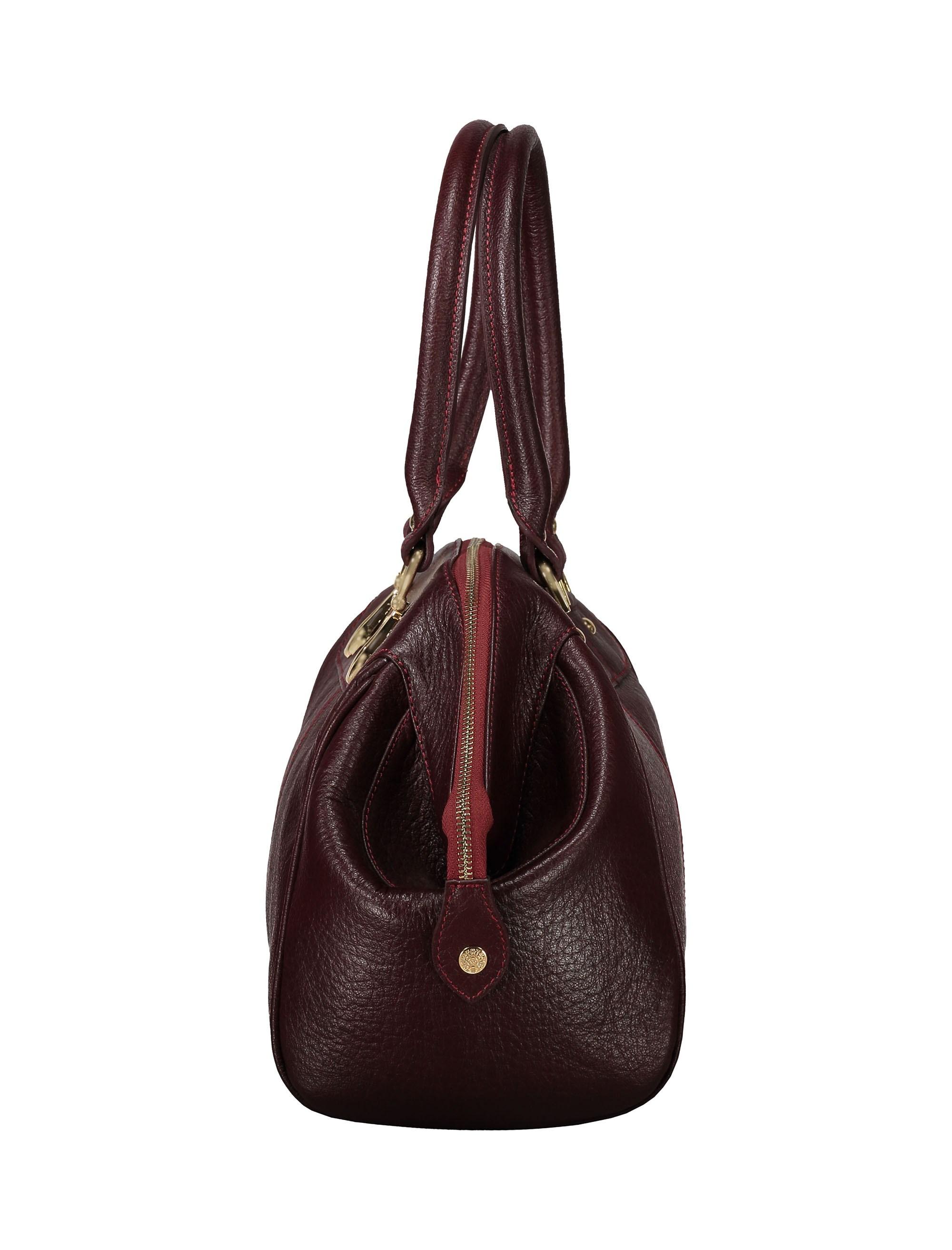 کیف دستی چرم روزمره زنانه - شیفر - زرشکي - 4