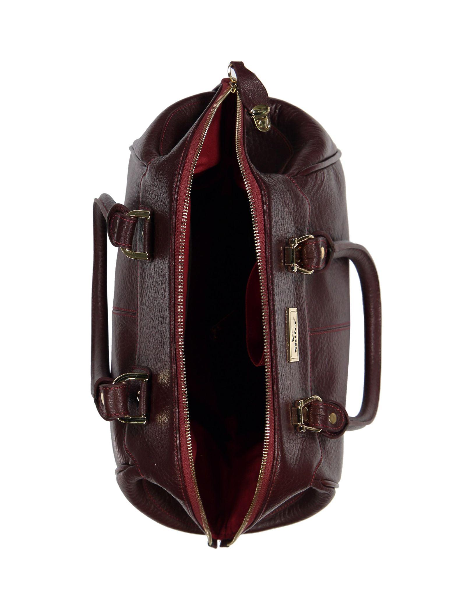 کیف دستی چرم روزمره زنانه - شیفر - زرشکي - 5
