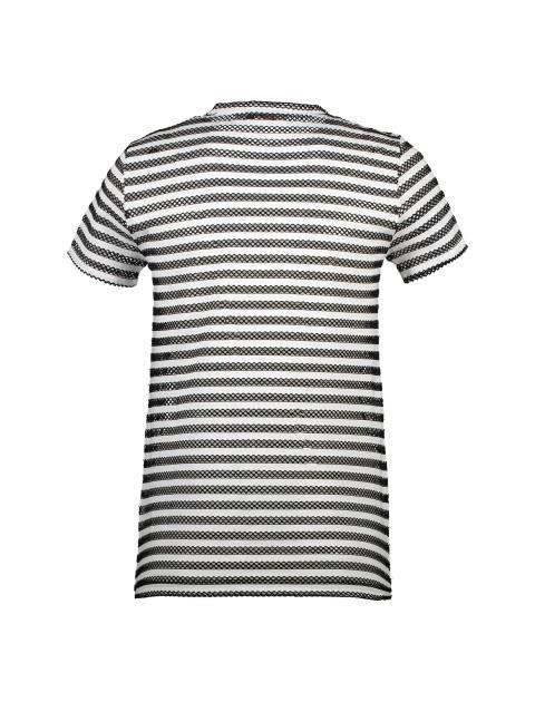تی شرت یقه هفت زنانه - کوتون - مشکي و سفيد - 2