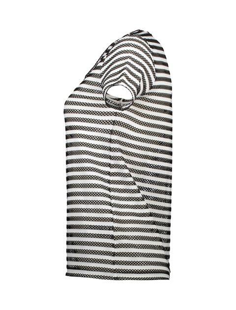تی شرت یقه هفت زنانه - کوتون - مشکي و سفيد - 3