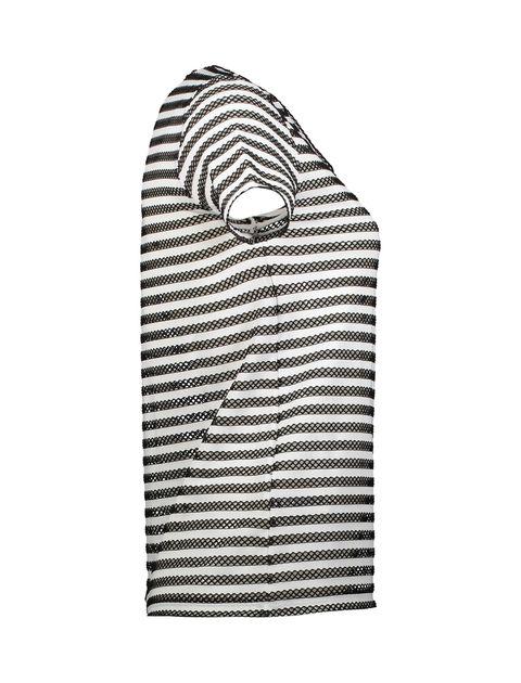 تی شرت یقه هفت زنانه - کوتون - مشکي و سفيد - 4