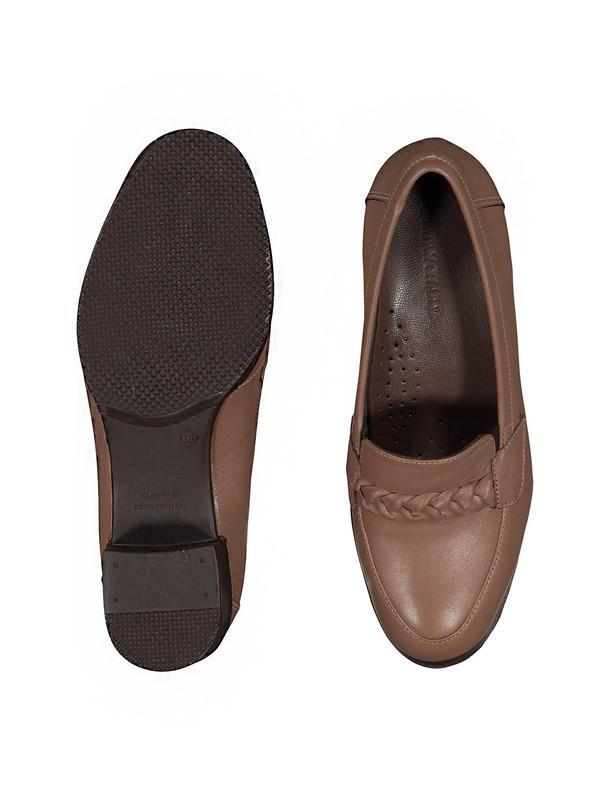 کفش پاشنه دار چرم زنانه - پاتن چرم