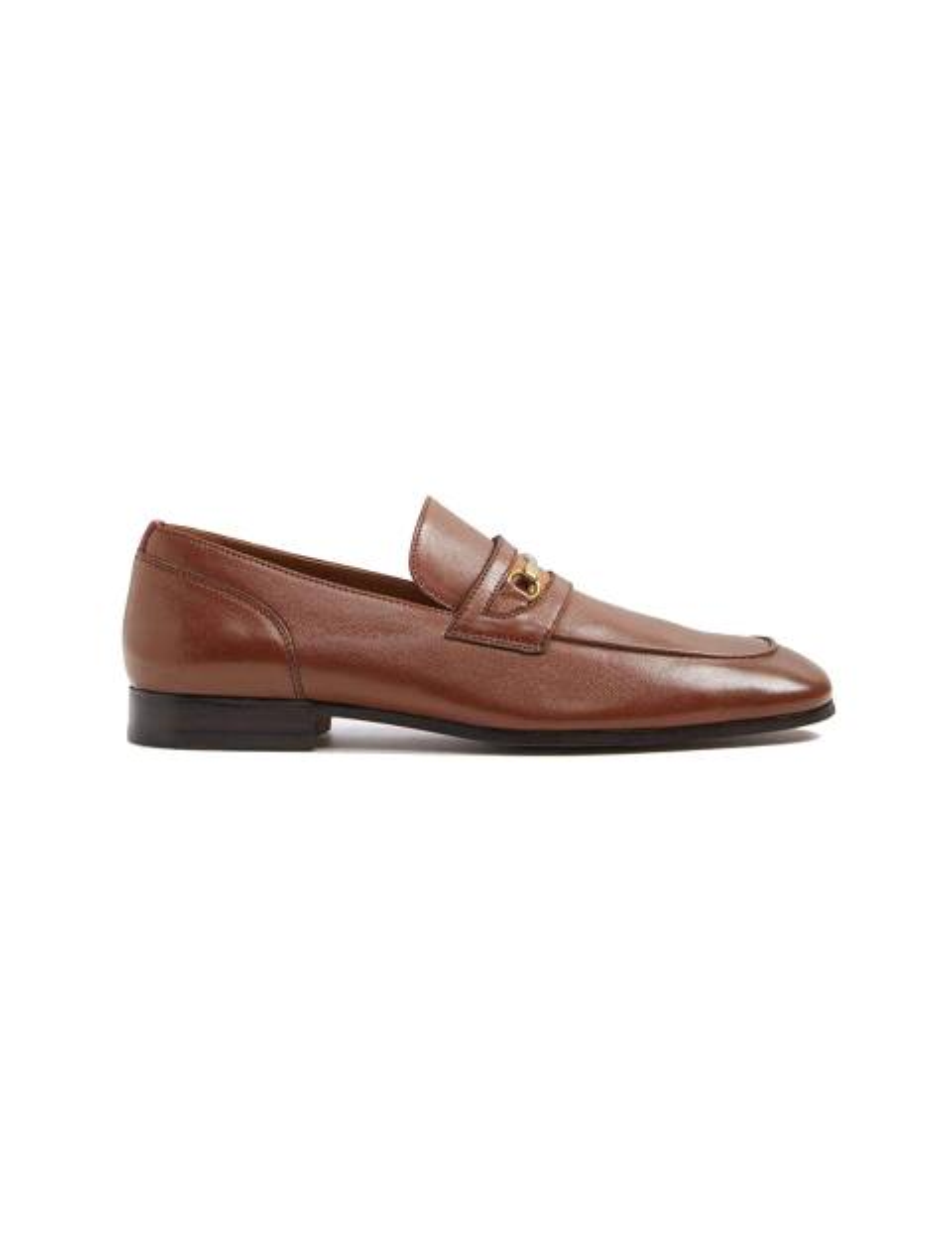کفش اداری چرم مردانه - قهوه اي - 1
