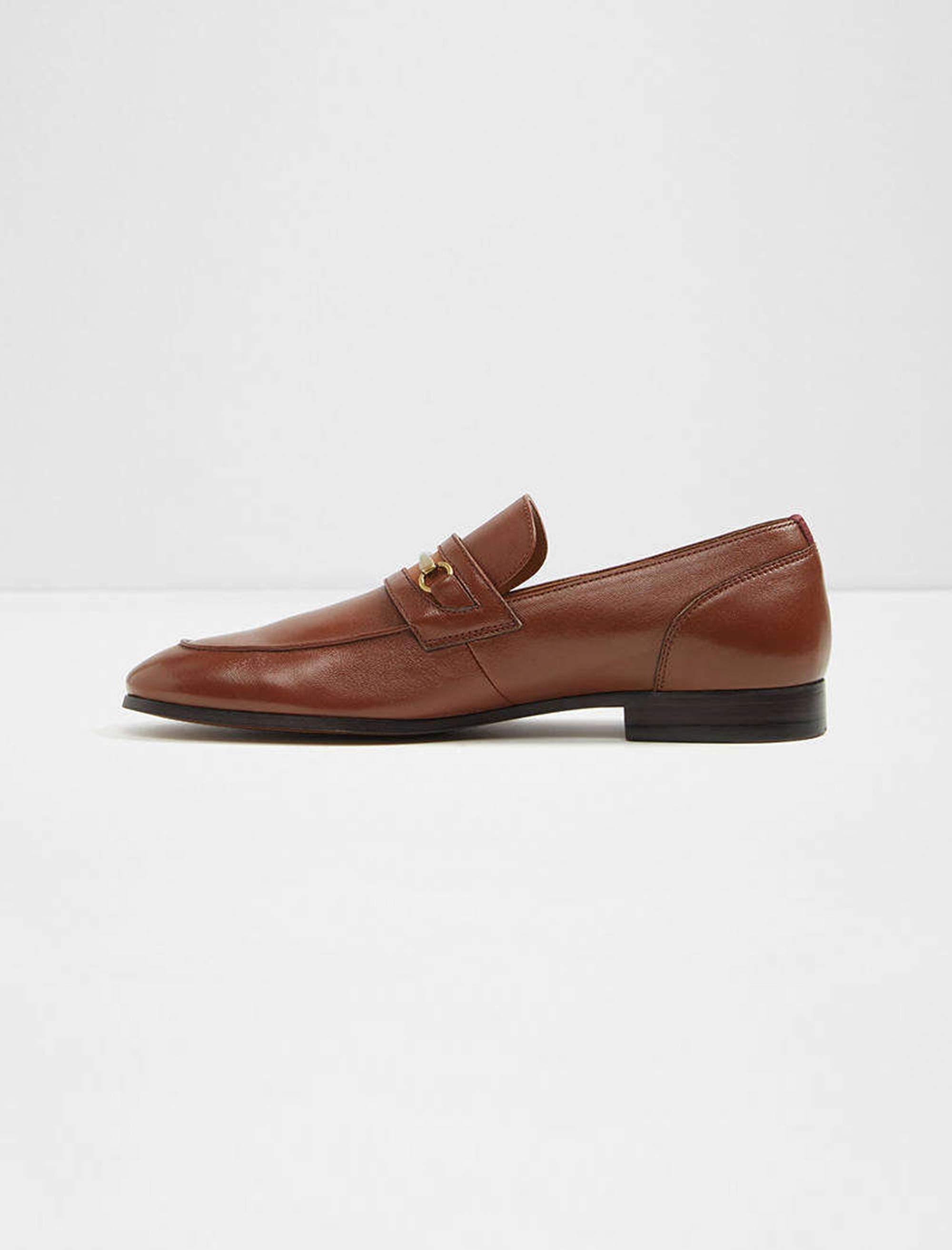 کفش اداری چرم مردانه - قهوه اي - 2