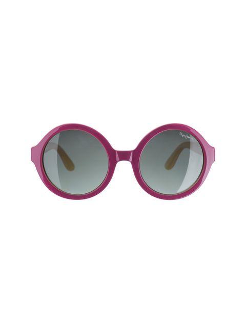 عینک آفتابی گرد دخترانه - صورتي - 1