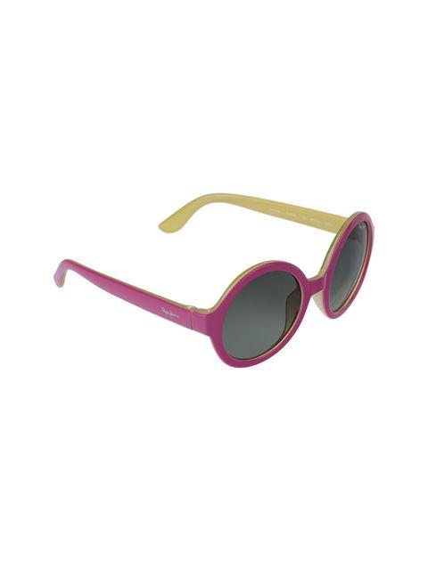 عینک آفتابی گرد دخترانه - صورتي - 2