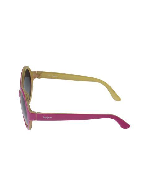 عینک آفتابی گرد دخترانه - صورتي - 3