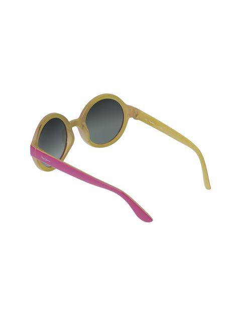 عینک آفتابی گرد دخترانه - صورتي - 4
