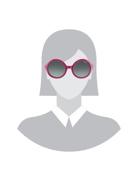 عینک آفتابی گرد دخترانه - صورتي - 5