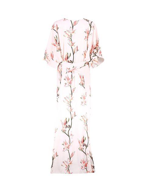 پیراهن ویسکوز بلند زنانه - صورتي - 2