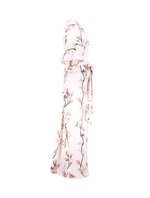 پیراهن ویسکوز بلند زنانه - صورتي - 4