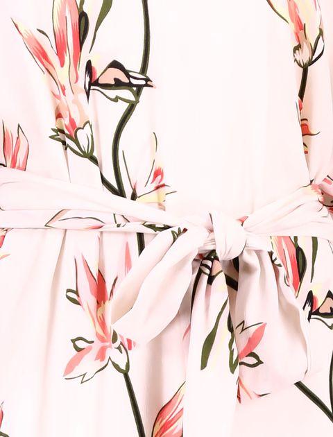 پیراهن ویسکوز بلند زنانه - صورتي - 5