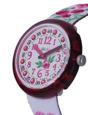 ساعت مچی عقربه ای بچگانه - سفيد و صورتي - 4