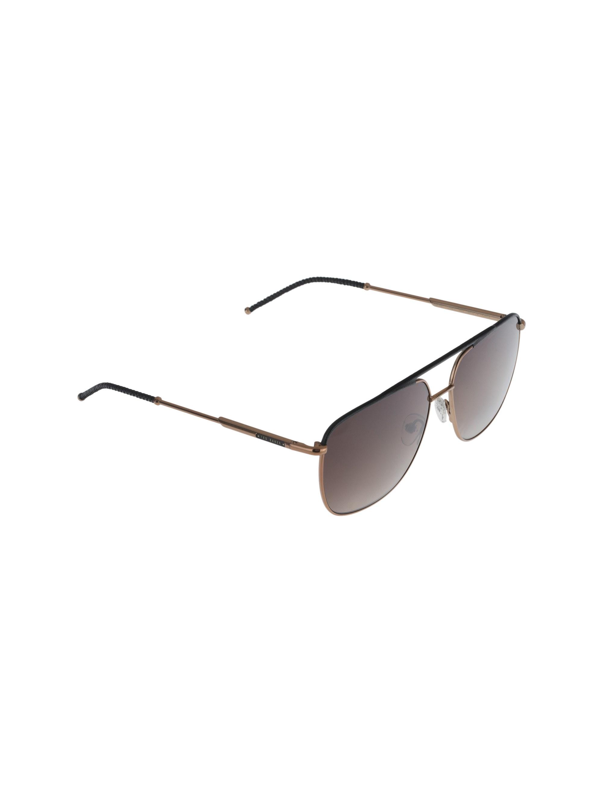عینک آفتابی خلبانی زنانه - تد بیکر - مشکي و مسي - 2