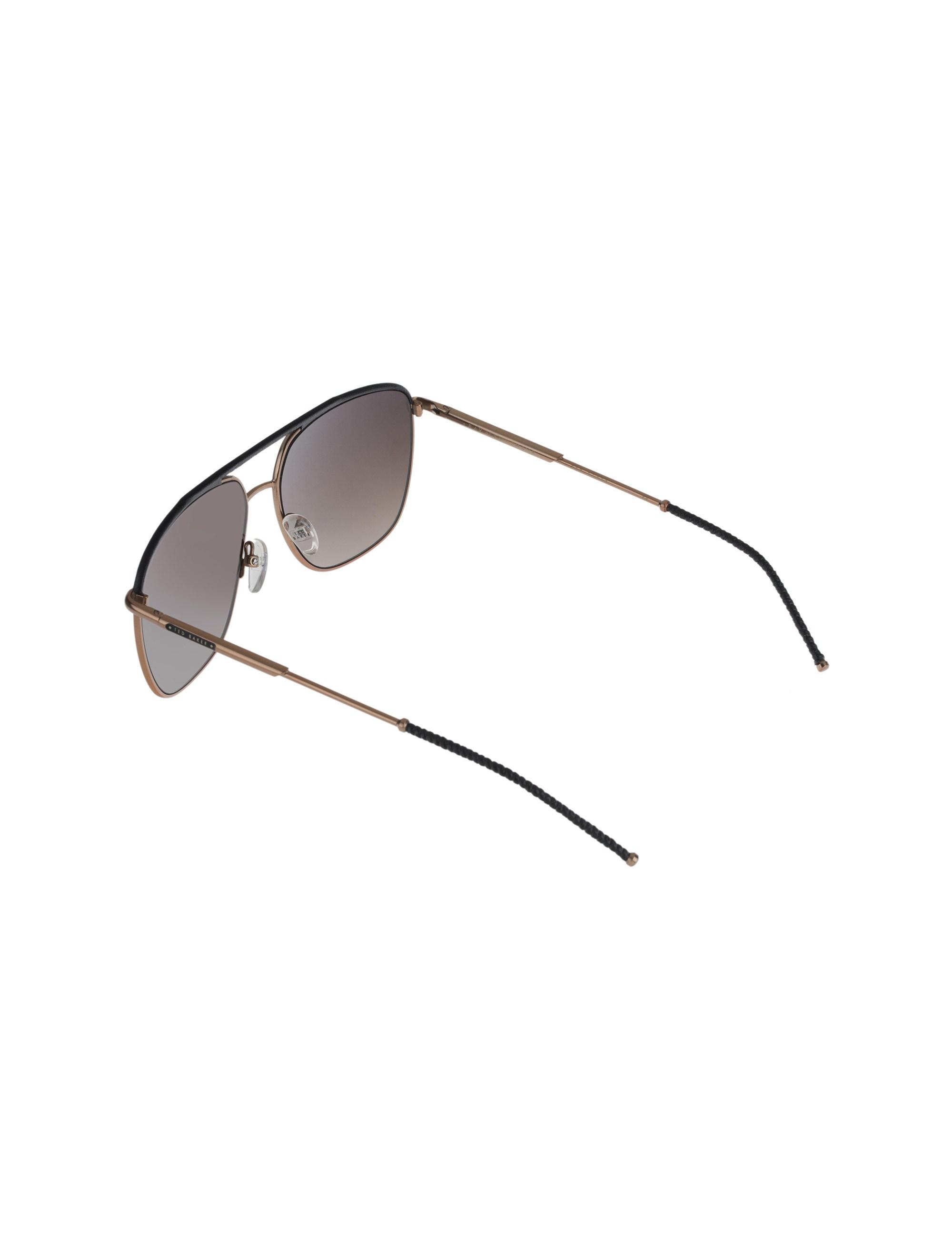 عینک آفتابی خلبانی زنانه - تد بیکر - مشکي و مسي - 4