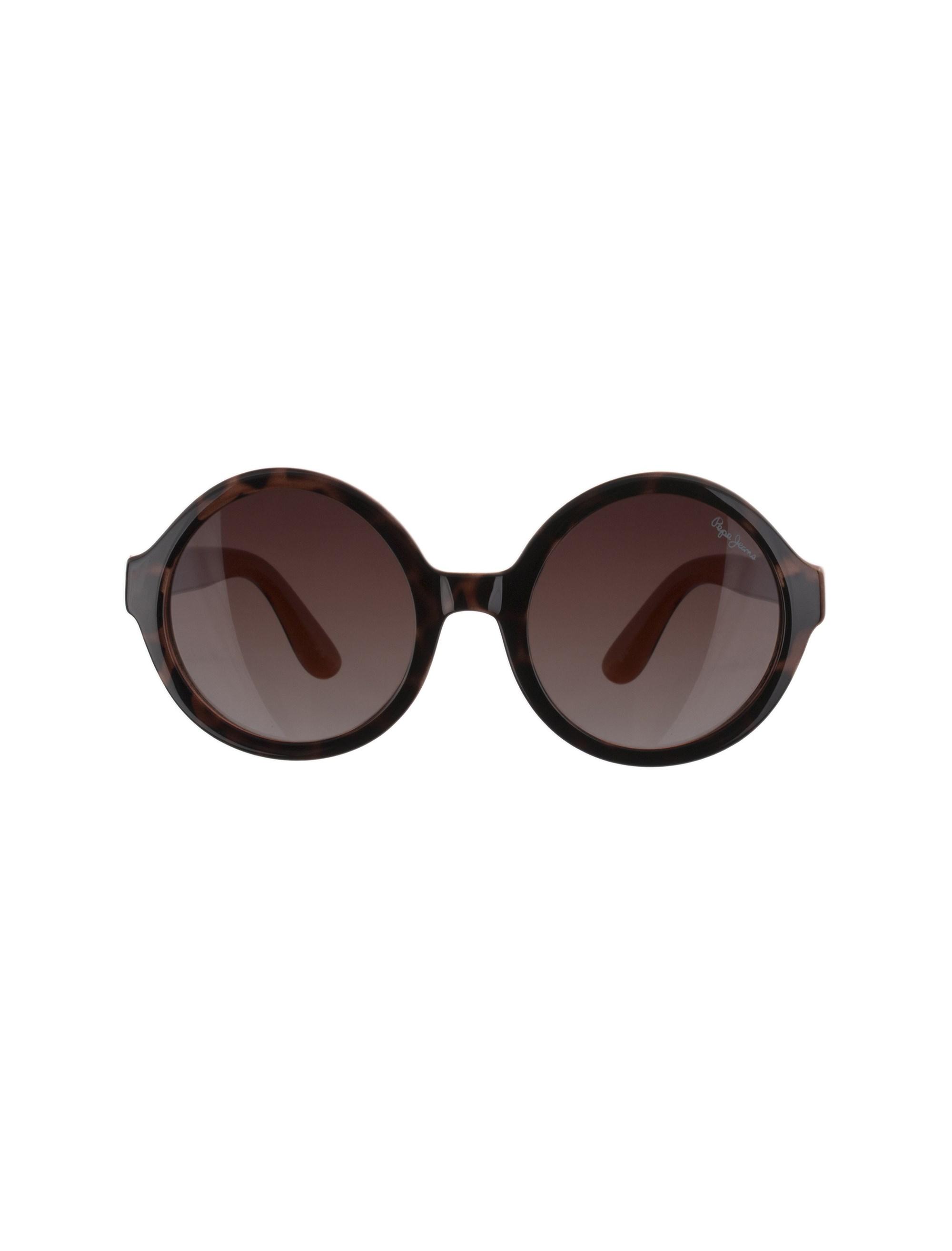 عینک آفتابی گرد دخترانه - قهوه اي  - 1