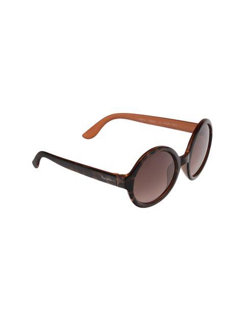 عینک آفتابی گرد دخترانه - قهوه اي  - 2