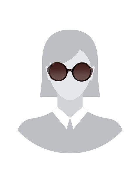 عینک آفتابی گرد دخترانه - قهوه اي  - 5