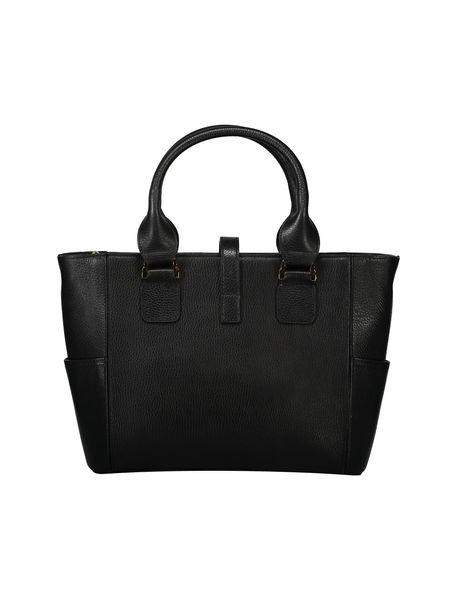 کیف دستی چرم روزمره زنانه - مشکي - 2