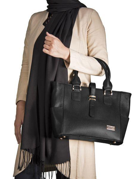 کیف دستی چرم روزمره زنانه - مشکي - 6