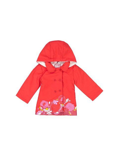 کاپشن نخی آستین بلند نوزادی دخترانه - قرمز - 3
