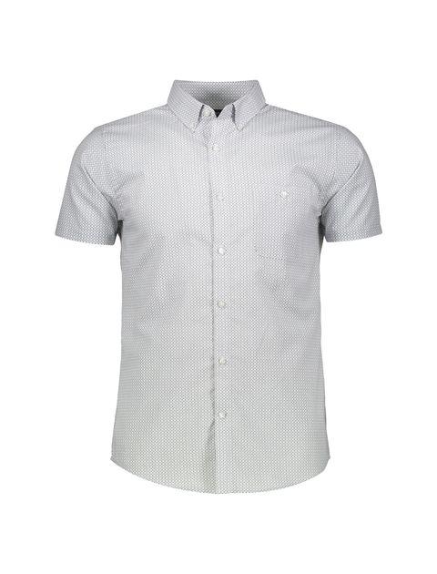 پیراهن نخی آستین کوتاه مردانه - رد هرینگ - سفيد و آبي - 1