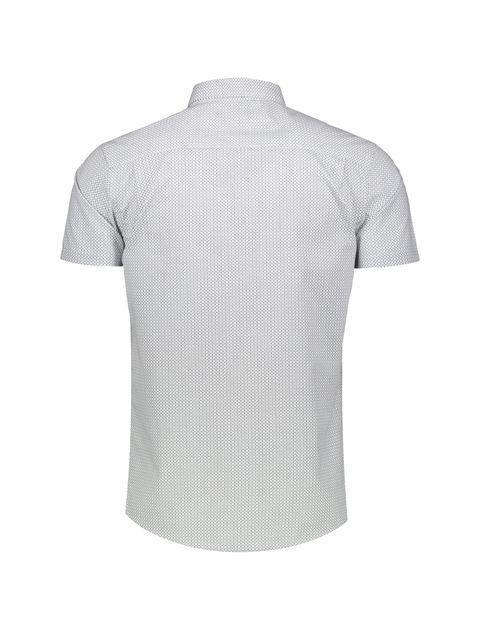 پیراهن نخی آستین کوتاه مردانه - رد هرینگ - سفيد و آبي - 2