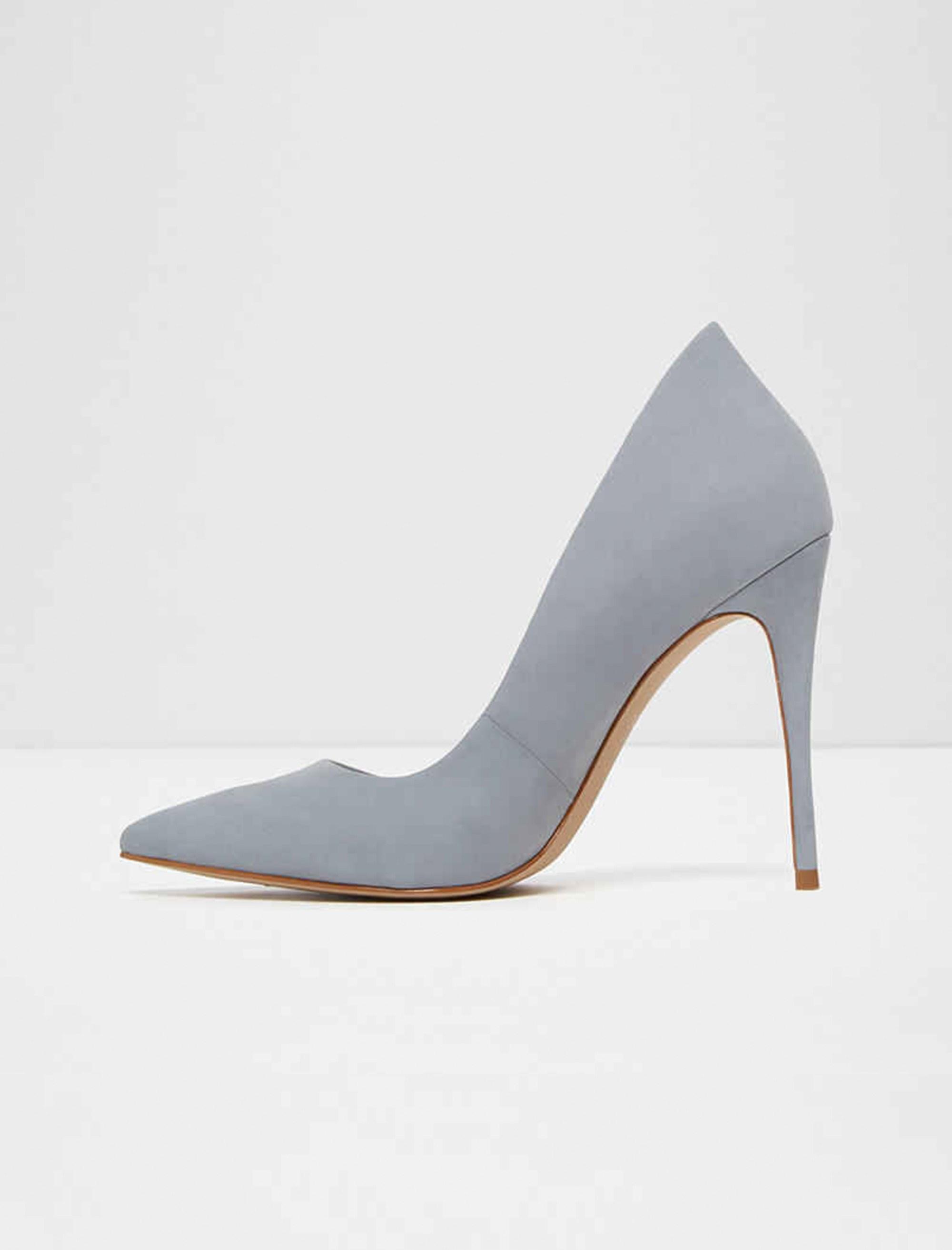 کفش پاشنه بلند نبوک زنانه - آبي  - 2