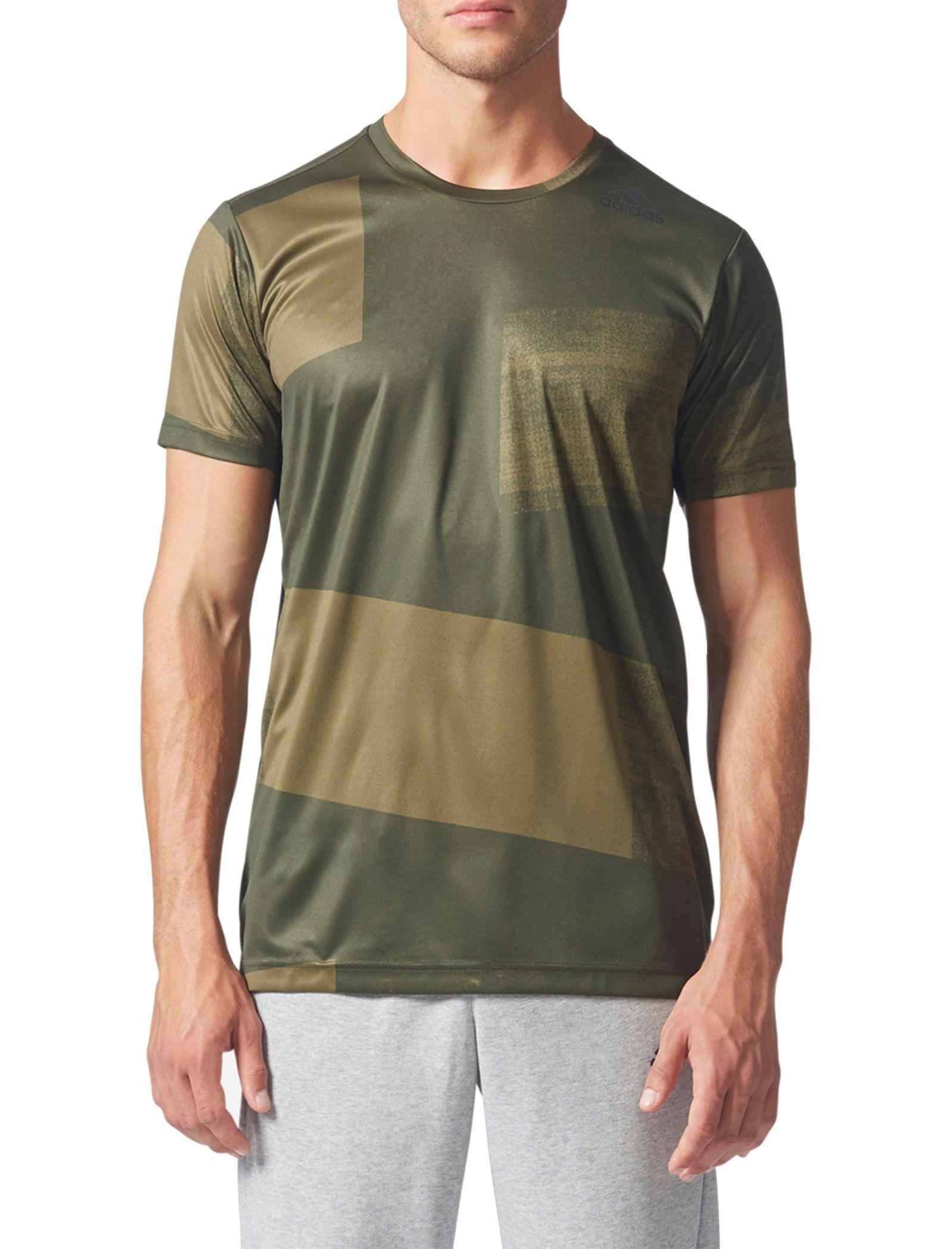 تی شرت ورزشی یقه گرد مردانه Freelift Climacool - آدیداس - زيتوني - 1