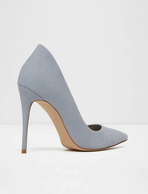 کفش پاشنه بلند نبوک زنانه - آبي  - 3