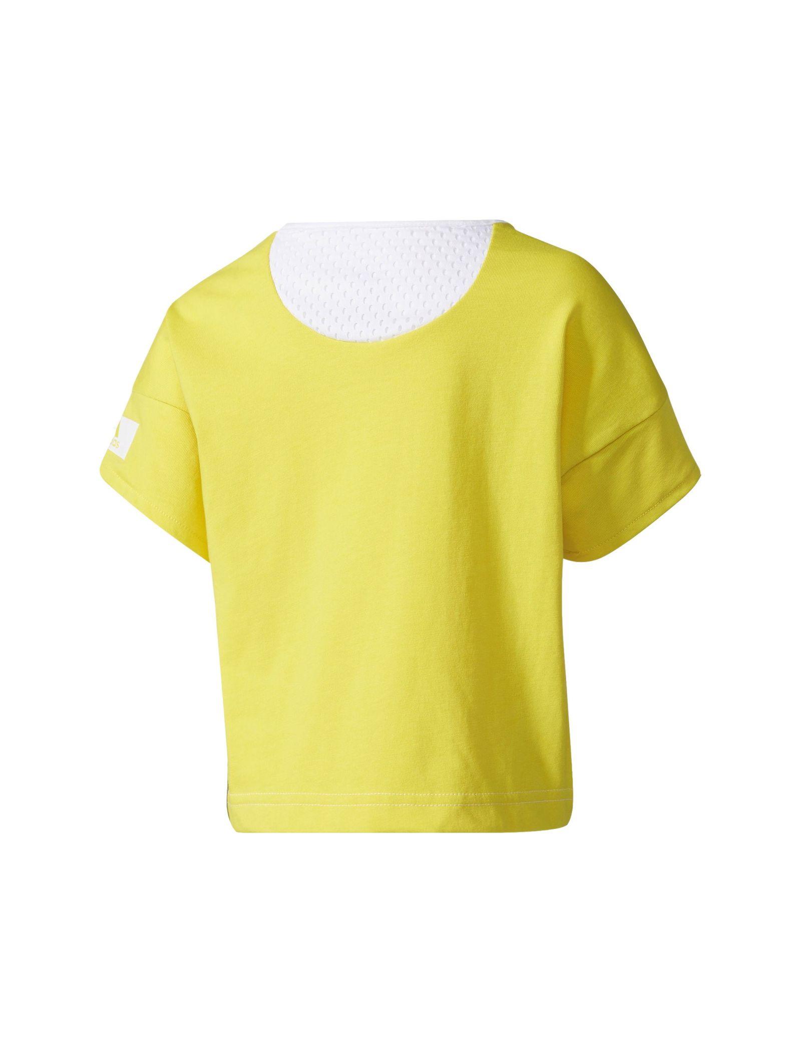 تی شرت ورزشی نخی دخترانه - آدیداس - سفيد - 2