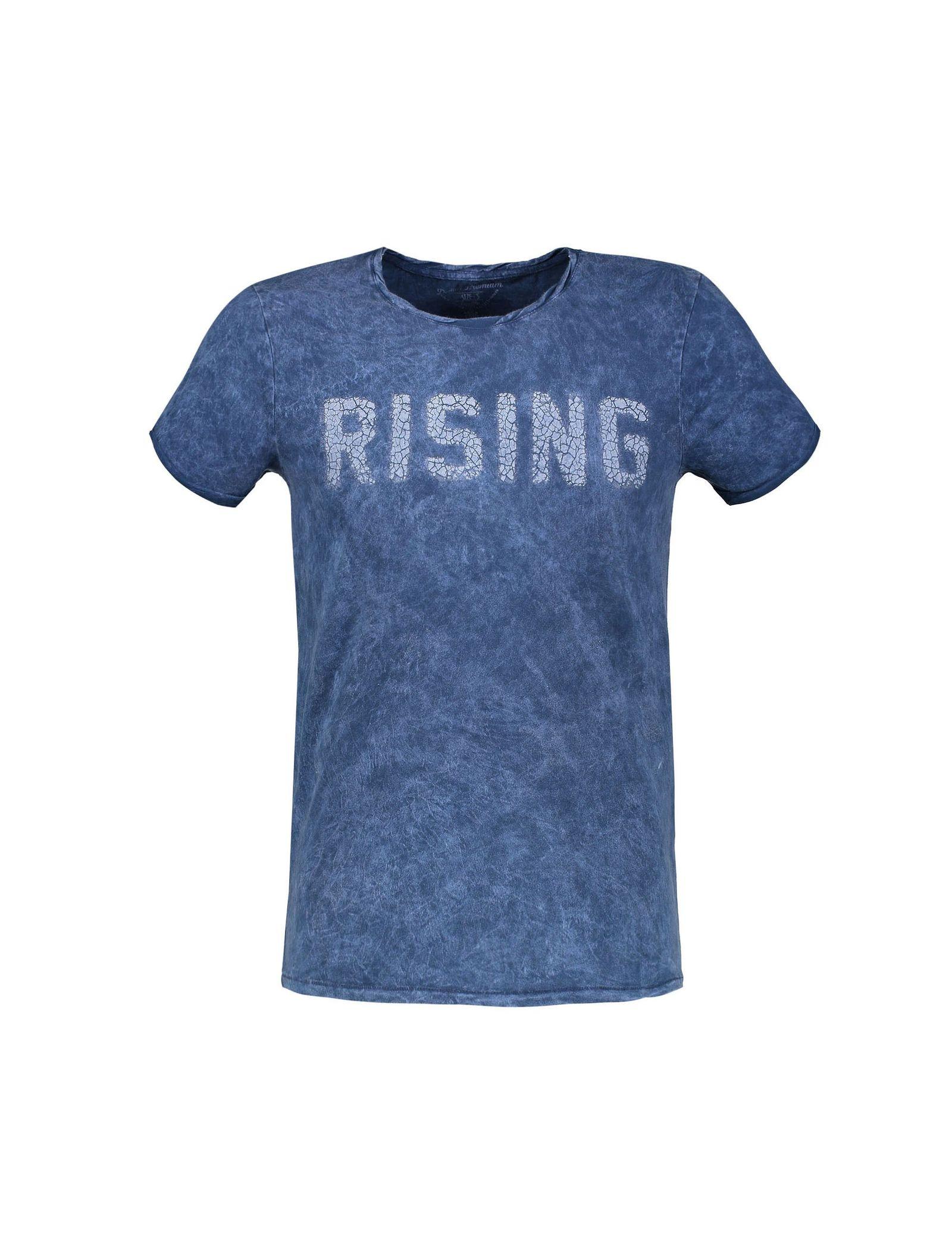 تی شرت نخی یقه گرد مردانه - ال سی وایکیکی - آبي - 1