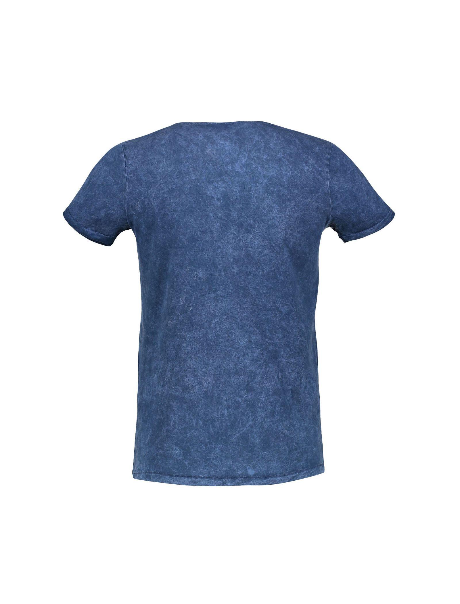 تی شرت نخی یقه گرد مردانه - ال سی وایکیکی - آبي - 2
