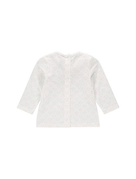 تی شرت نخی طرح دار نوزادی - سفيد - 2