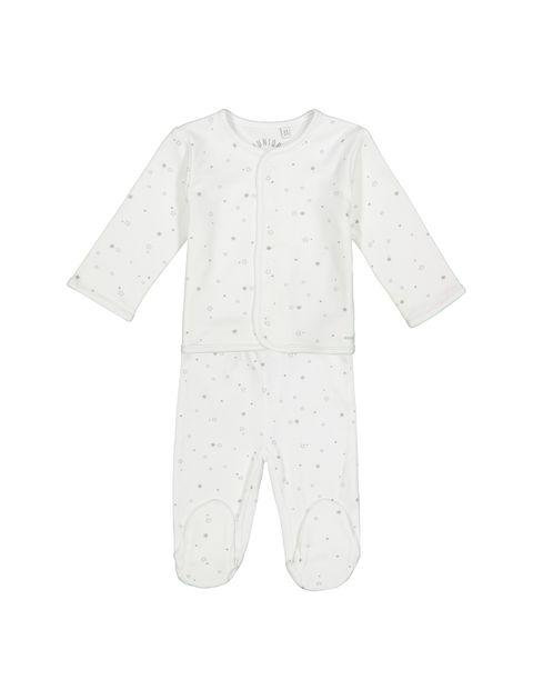 ست 6 تکه نخی نوزادی - سفيد - 2