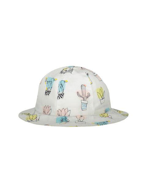 کلاه نخی طرح دار نوزادی دخترانه - ارکسترا - سفيد - 1