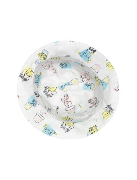 کلاه نخی طرح دار نوزادی دخترانه - ارکسترا - سفيد - 3