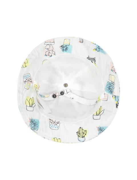 کلاه نخی طرح دار نوزادی دخترانه - ارکسترا - سفيد - 4