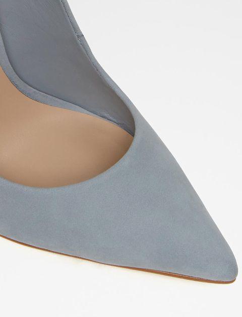 کفش پاشنه بلند نبوک زنانه - آبي  - 4