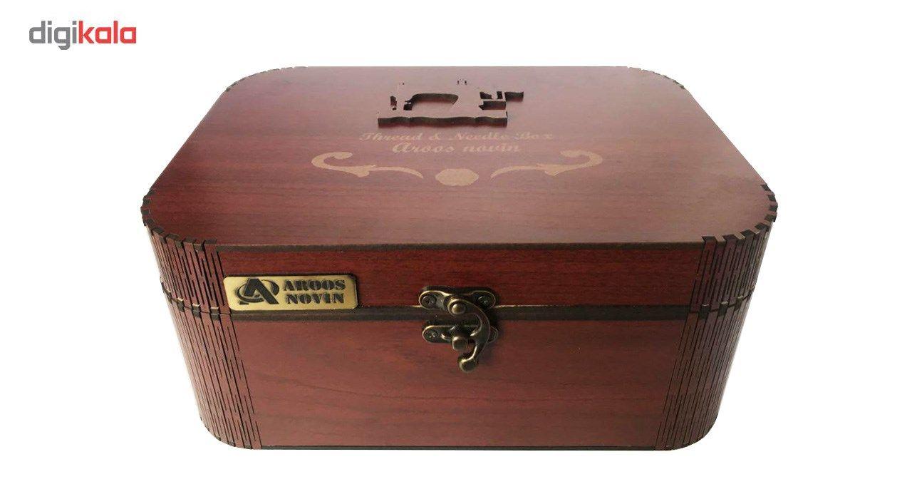 جعبه لوازم خیاطی عروس نوین مدل 03 main 1 3