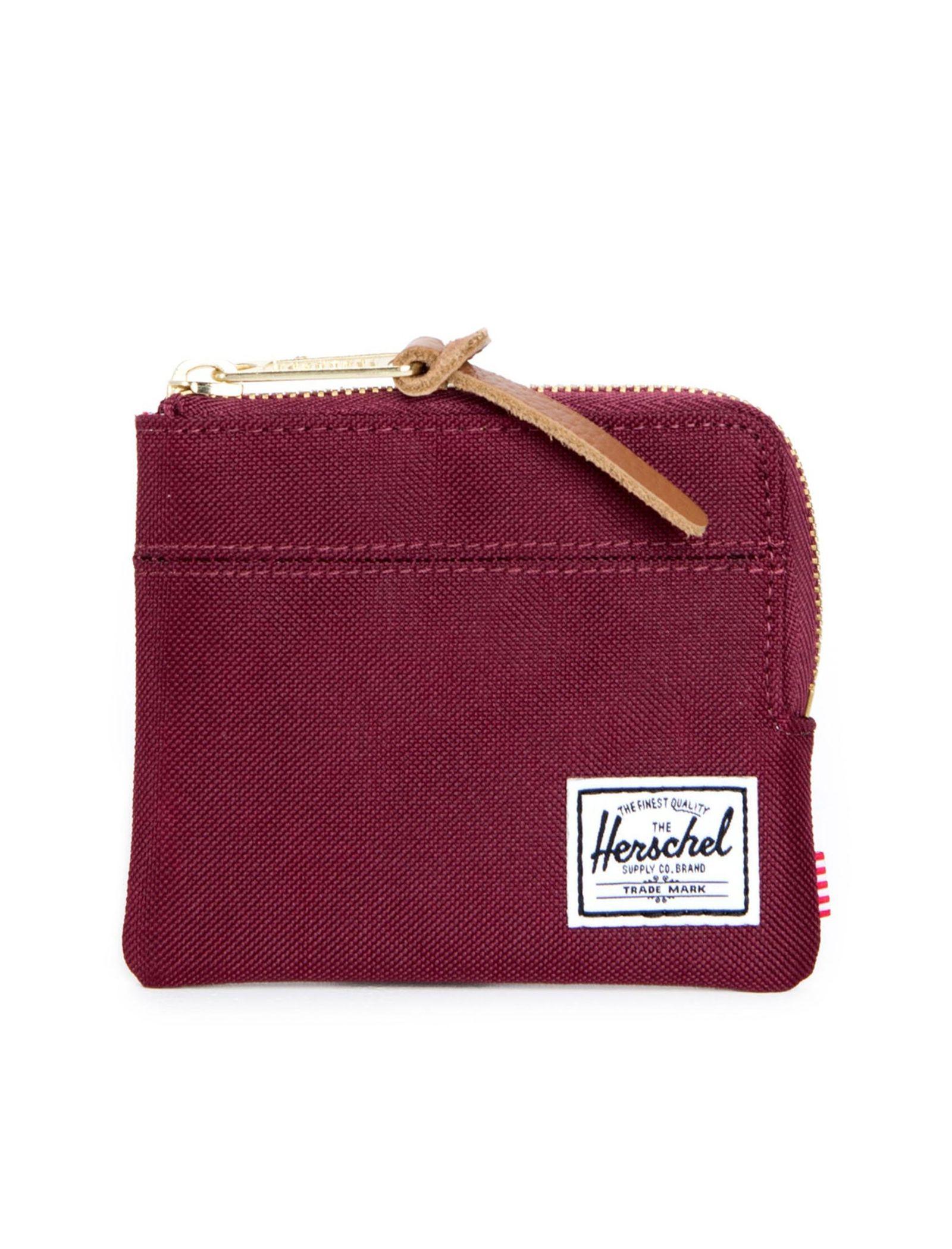 کیف پول زیپ دار زنانه - هرشل - زرشکي - 1